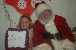 Santa's little helper Katie is thankful for love