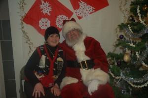 Annabella sporting a festive vest